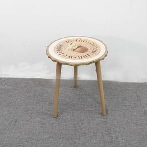 Simple and Stylish Small Furniture Creative Casual Cafe Coffee Table, Size:41x41x49cm(With Word)