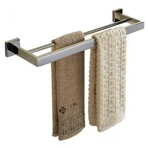 304 Stainless Steel Double Bathroom Thickening Towel Bar, Size: 570x130x50mm