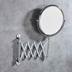 Wall-Mounted Hotel Vanity Mirror Folding Double-Sided Bathroom Mirror, Size: 8 inch
