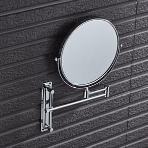 Wall-Mounted Hotel Vanity Mirror Folding Double-Sided Bathroom Mirror Beauty Mirror, Size: 8 inch