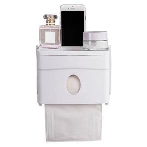 Multifunction Suction Wall Punch Free Bathroom Bathroom Plastic Paper Towel Holder Storage Rack