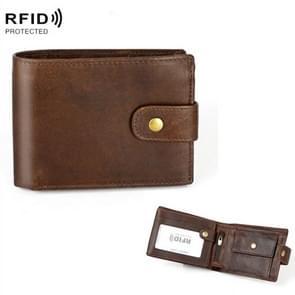 Crazy Horse Pattern Multi-bit Leather Card Bag Anti-magnetic RFID Men Wallet