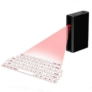 MINI F3 Bluetooth Charging Treasure Laser Virtual Projection 2 in 1 Keyboard(Black)