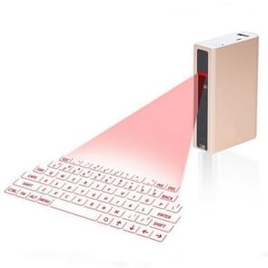 MINI F3 Bluetooth Charging Treasure Laser Virtual Projection 2 in 1 Keyboard(Gold)