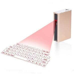 MINI F3 Bluetooth opladen schat Laser virtuele projectie 2 in 1 toetsenbord (goud)