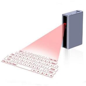 MINI F3 Bluetooth opladen schat Laser virtuele projectie 2 in 1 toetsenbord (zilver)