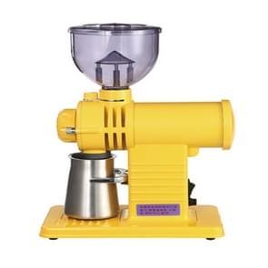 Electric Coffee Grinder Flat Wheel Burr Grinder Coffee Miller(Yellow)