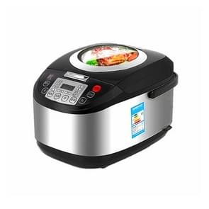 High-capacity Rice Cooker Smart Electric Pot Soup Porridge Breakfast Maker(Black)