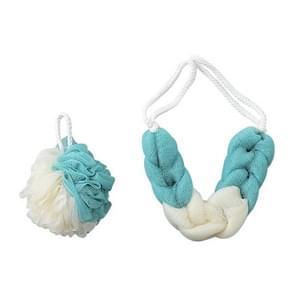 2196 Bathing Bath Flower Bath Ball Bath Towel Set(Green)