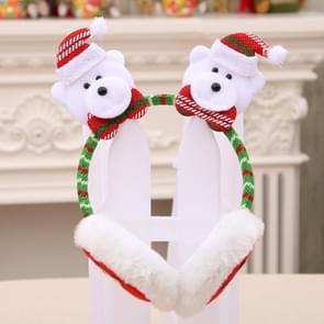 Women Men Christmas Earmuffs Head Hoop Cute Cartoon Decoration for For Winter(Little Bear)