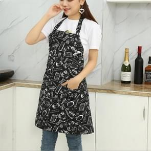 Chef Aprons Unisex Kitchen Hotel Coffee Shop Bakery Waiter Work Wear, Style:Knife And Fork, Size:65x73cm