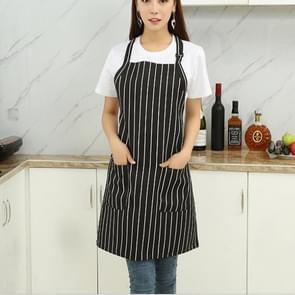 Chef Aprons Unisex Kitchen Hotel Coffee Shop Bakery Waiter Work Wear, Style:White Vertical Bar, Size:65x73cm