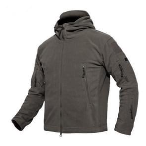 Fleece warme mannen thermische ademende capuchon jas (grijs)