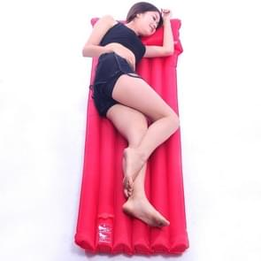 Thicken Outdoor Tourism Camping Automatic Inflatable Cushion Moisture Proof Pad Nap Mat(Red )