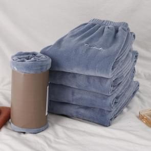 Kleine fee warme broek herfst winter modellen Home service losse casual wild slaap broek vrouwen dikke broek broek  grootte: één grootte (zuurstof blauw)