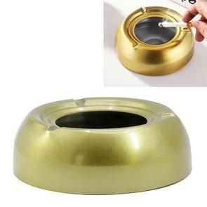 RVS vierkleurige asbak buitenlandse roken diameter 13 6 CM (goud)