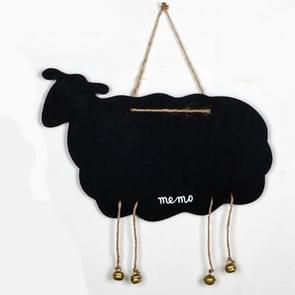 Double-Sided Hanging Wooden Creative Message Small Blackboard Home Decoration Wood Crafts(Sheep )