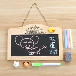 Wooden Wagnetic Hanging Mini Double-sided Small Blackboard with Eraser
