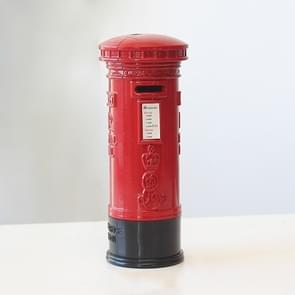 Retro Tin Alloy Telephone Booth Postbox Piggy Bank Decoration( Mailbox)