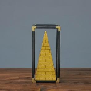 Resin Crafts Pyramid Model Ornaments Home Porch Study Desk Furnishings, Size: Medium
