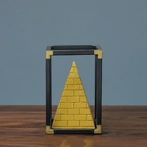 Resin Crafts Pyramid Model Ornaments Home Porch Study Desk Furnishings, Size: Small