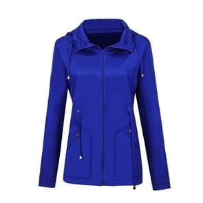 Regenjas Waterdichte kleding buitenlandse handel Hooded Windbreaker jacket regenjas  maat: M (meer blauw) (meer blauw)