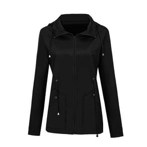 Regenjas Waterdichte kleding buitenlandse handel Hooded Windbreaker jacket regenjas  maat: L (zwart)