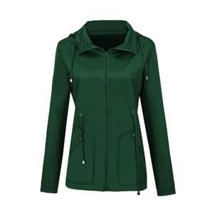 Regenjas Waterdichte kleding buitenlandse handel Hooded Windbreaker jacket regenjas  grootte: XXXL (groen)