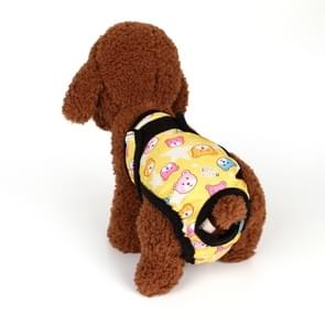 Pet Menstrual Pants Health Pants Safety Pants Teddy Anti-harassment Panties Dog Physiological Pants, Size: XXL(Yellow Bear)