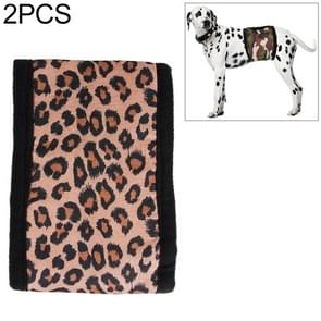 2 PCS Pet Physiological Belt Male Dog Courtesy With Health Safety Pants Anti-harassment Belt, Size:XXL(Leopard )