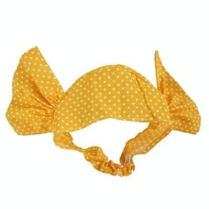 Creative Cat Dog Candy Color Funny Tidy Props Headband Hooded Hat(Yellow Dot )