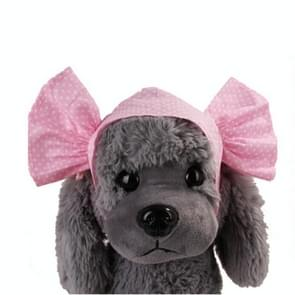 Creative Cat Dog Candy Color Funny Tidy Props Headband Hooded Hat(Pink Dot )