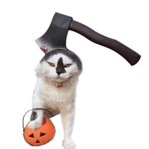 2 PC'S creatieve kat hond Halloween grappige tidy Props hoofdband Hooded hoed  maat: S (bijl)