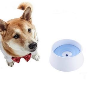 Dog Drinking Water Dog Pot Not Wet Mouth Splash Water Large Capacity Buoyancy Dog ??Bowl(Blue)