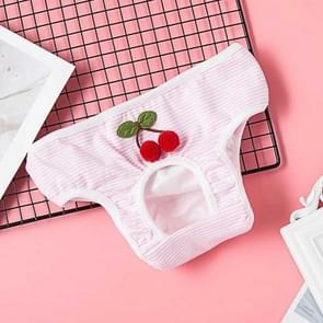 Creative Cute Pet Physiological Pants Dog Cherry Underwear, Size: M(Pink)