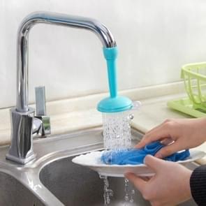 2 PCS Faucet Splash Water-saving Shower Bath Adjustable Valve Filter Water Saving Devices, Large Size: 6.5 x 10.5cm, Suitable for 17mm Diameter Round Faucets(Blue)