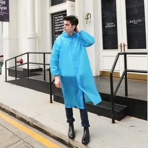 Disposable  PEVA Environment Transparent Raincoat Outdoor Hiking Siamese Raincoat(Blue)