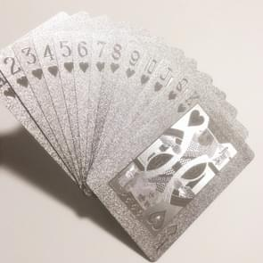 2 stuks waterdichte duurzaam zilver folie kunststof creatieve speelkaarten cadeau