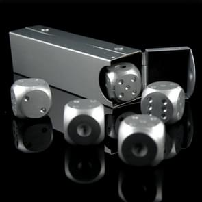 Zilveren digitale aluminiumlegering metalen pincet set tafelspelen (lange dobbelstenen)