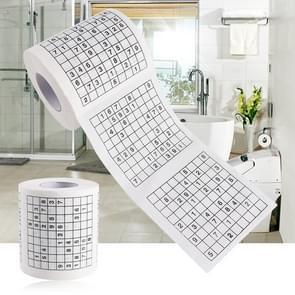 3 Rollen Creative Sudoku Wc Papier Roll Papier Gezichtsweefsel