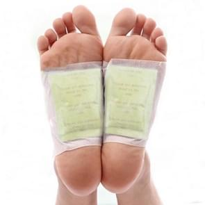 100 PCS Gold Foil Version Detox Foot Pads Organic Herbal Cleansing Patches