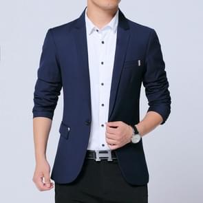 Mannen casual pak Self-teelt Business blazer  maat: XL (Navy)