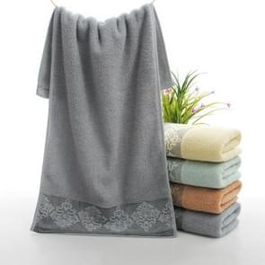 Absorbent Towel Face Towel Bathroom Thick Soft Cloth Wipe Towel, Size: 35x75cm(Gray)