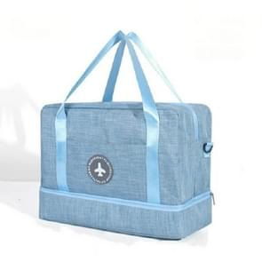 Oxford Dry Wet Separation Storage Bag Travel Storage Bag Large Capacity Handbag(Light Blue)