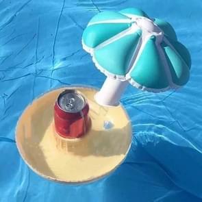 PVC Kleine Paraplu Opblaasbare Bekerhouder Water Single Hole Mushroom Cup Holder (Blauw)
