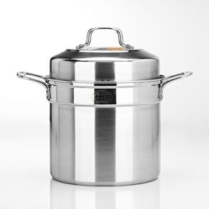 Stockpot Food Grade Material Souppot with Steamer Grid, Specification: 28cm