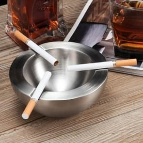 Stainless Steel Natural Color Thick Round Ashtray