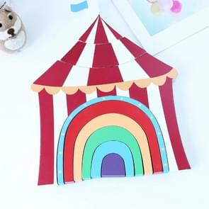 Children Toys Wooden Stacks Rainbow Blocks Circus Ornaments  Home Decoration