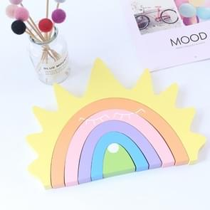 Sun Rainbow Building Blocks Children Toys Photo Photography Props