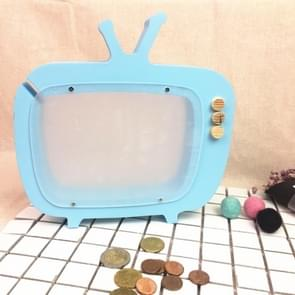 Wooden TV Storage Tank Children Room Display Photography Props Toys(Blue)